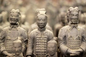 Terracotta soldiers sporting neckties