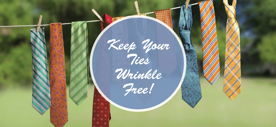 Get rid of wrinkles on your tie!